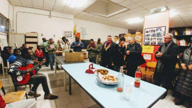 Il Vescovo Lambiasi in visita a Casa Madiba