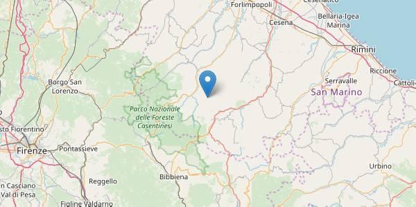 Scossa di magnitudo 3.9 con epicentro a Santa Sofia