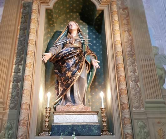 Rubata la corona della Madonna del Suffragio
