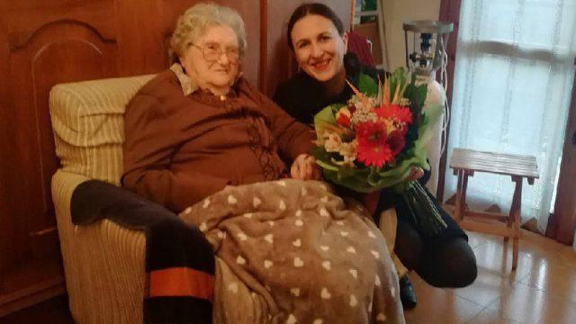 La festa per i 105 anni di Pasquina Bruscolini
