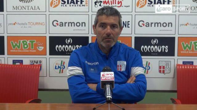 L'allenatore del Rimini, Gian Luca Righetti