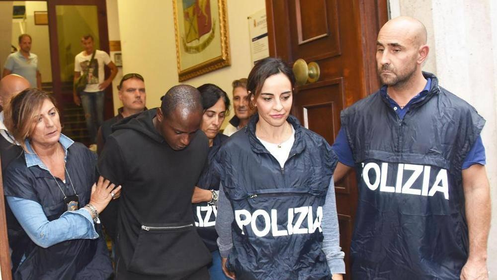 l'arresto di Guerlin Butungu per lo stupro di Miramare.