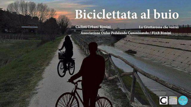 """Alla Grottarossa una """"biciclettata al buio"""" per chiudere più luce"""