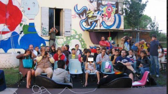 del Lab. Paz durante la visita di Don Andrea Gallo