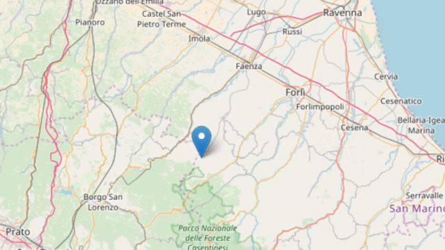 Trema l'Appennino romagnolo, scossa di terremoto di magnitudo 3.3 e 3.6