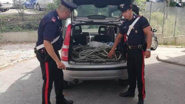 Ruba rame in stabile in disuso, arrestato dai Carabinieri
