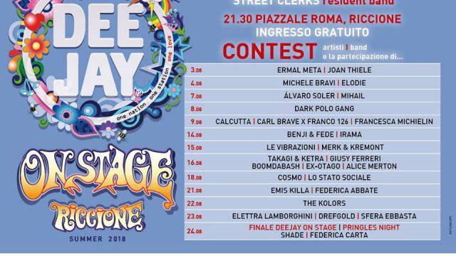 Deejay on Stage a Riccione. Ecco le date