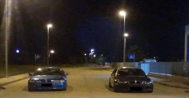 L'auto dell'Arma ferma la corsa clandestina alla zona artigianale di Riccione