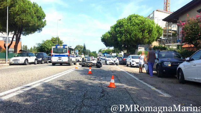 Incidente sull'Adriatica a Riccione, istituito senso unico alternato