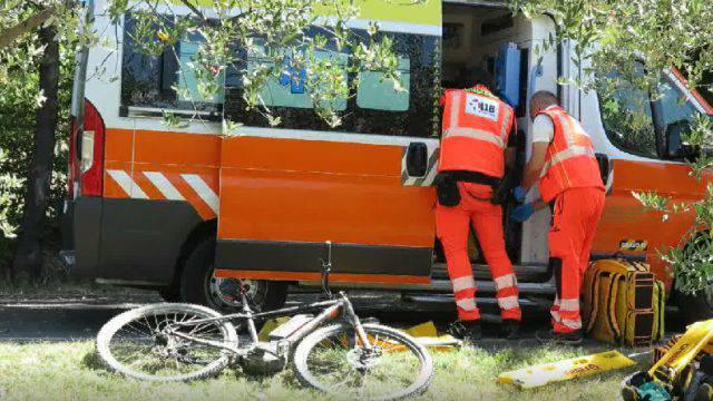 Al Bufalini cicloturista investito a Coriano
