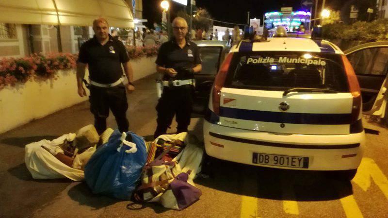 Polizia Municipale e abusivismo. A oggi 651 rinvenimenti di merce