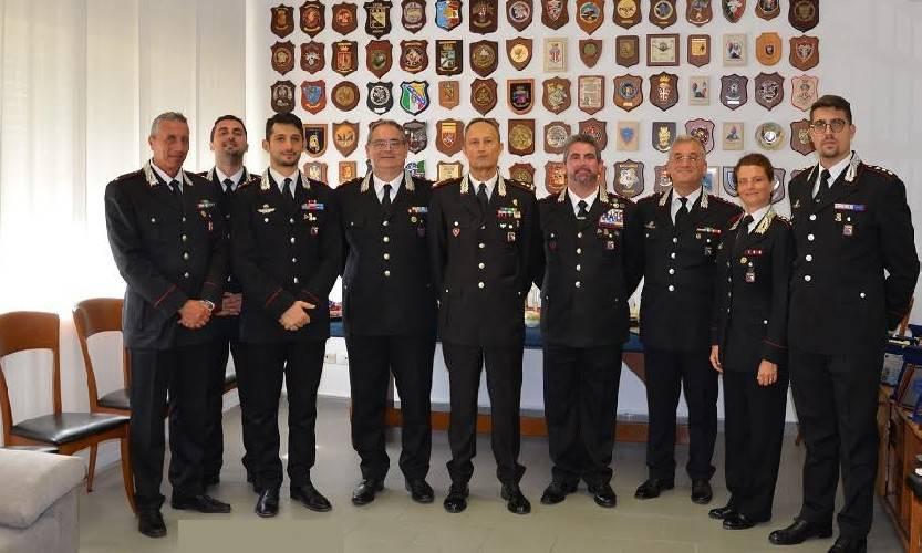 Il Comandante della Legione Emilia Romagna saluta i Catabinieri riminesi