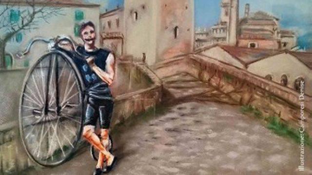 La pittrice riminese Denise Camporesi