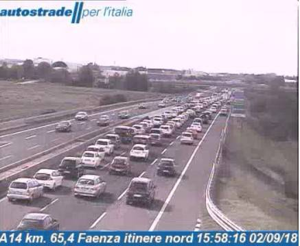 Traffico dei rientri e incidenti: code in A14