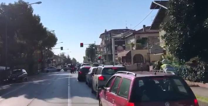 Traffico sostenuto ma sostanzialmente sotto controllo tra Riccione e Misano per l'accesso al Misano World Circuit in occasione della MotoGP.