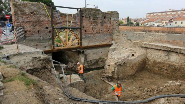 Porta Galliana ormai restituita nel suo assetto originario