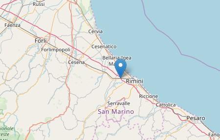 Forte scossa di terremoto con epicentro nel riminese