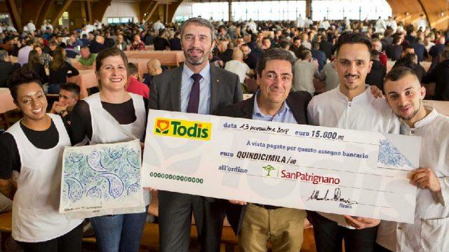 Dalle borse gelo di Todis 15.000 euro per San Patrignano