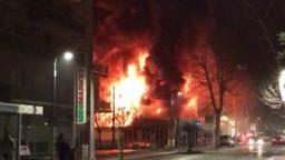 Violento incendio a Riccione