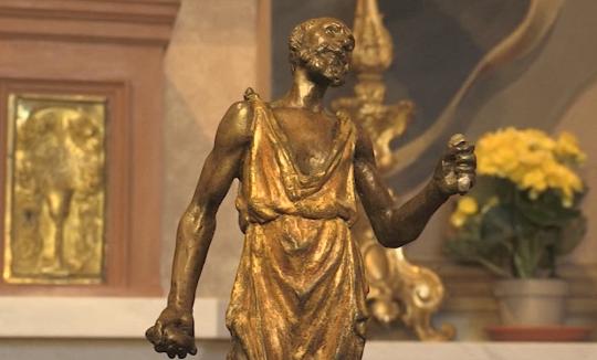 Il bronzetto restaurato dalla Confraternita di San Girolamo