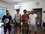 finalisti del torneo di doppio maschile (vincitori Galli-Forcellini su Berardi-Gaudenzi)