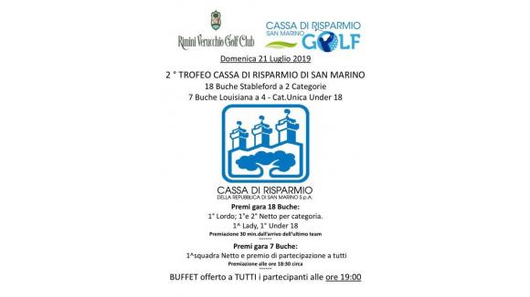 2° trofeo Cassa di Risparmio di San Marino