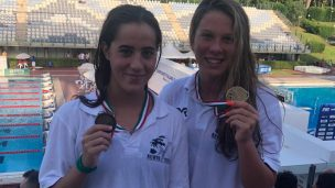 Arianna Valloni insieme alla medaglia d'oro Giulia Salin