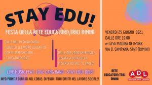 stay edu festa educatori educatrici rimini - adl cobas